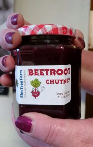 Beetroot chutney from Elm Tree Farm shop in Bristol