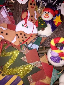 Selection of Christmas decorations